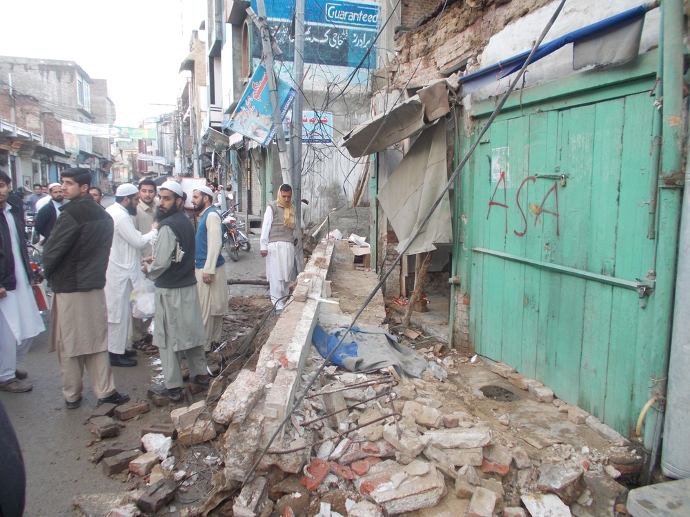 Earthquake damage in Mingora, Pakistan