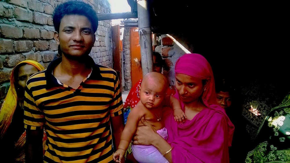 Al-Amin and Fatima in a slum in the Bangladesh capital of Dhaka in October 2015 where they moved when their farmland was lost to river erosion