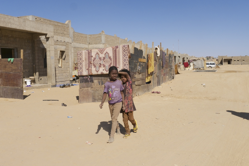"The so-called ""Chinese Camp"" for IDPs and migrants in southwestern Libya near the town of Ghat. Many residents were displaced by the violence in Ubari. They have received no aid."