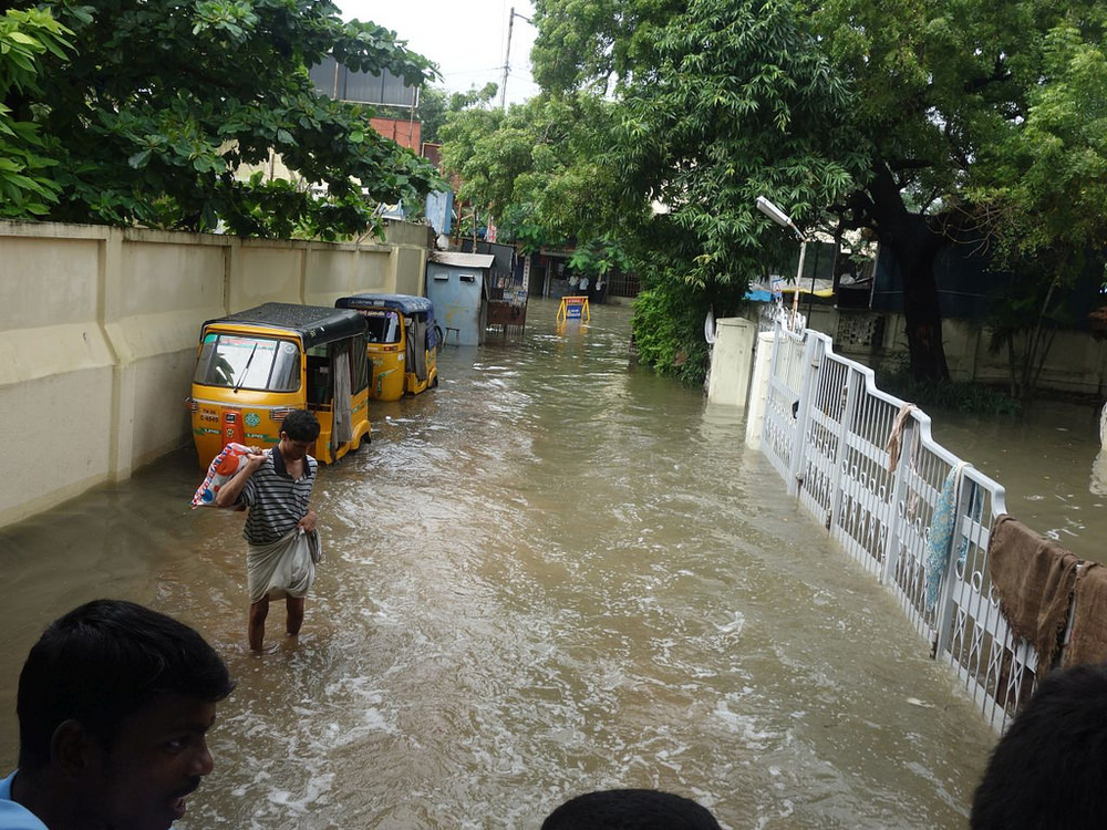 Flooding in Chennai, India, on 3 December 2015