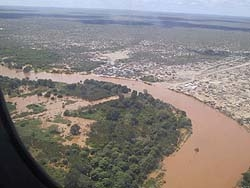 [Kenya] Flooding in Tana River District, eastern Kenya, after recent heavy rains and the Tana River bursting its banks.