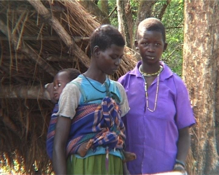 Girls who were kidnapped by the LRA