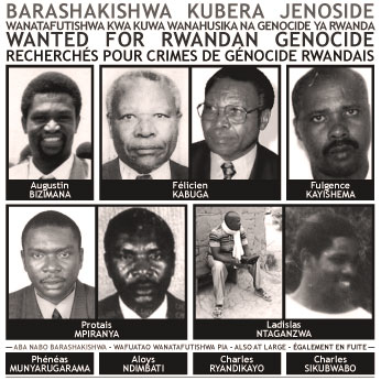 Poster for alleged Rwanda war criminals