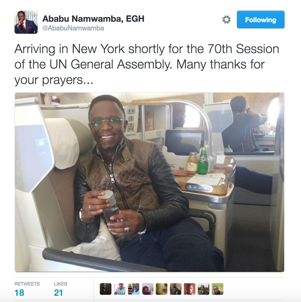Tweet by Ababu Namwamba