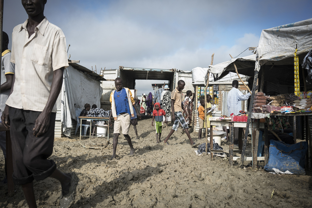 People in Malakal Protection of Civilians site in South Sudan