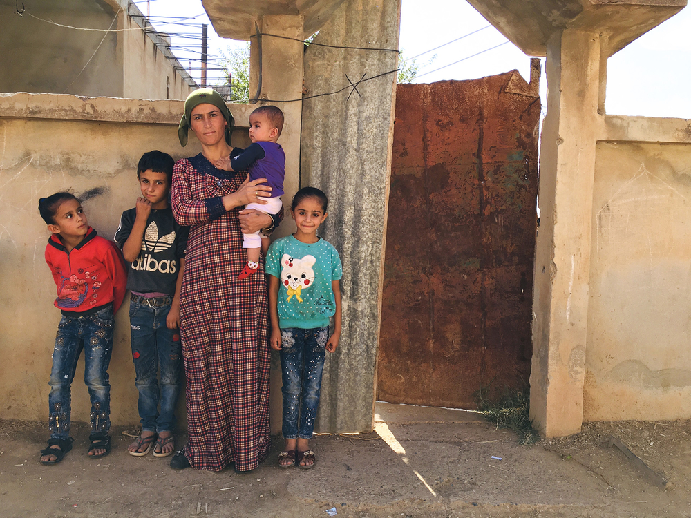 Rosa Nabu and her family fled the border town of Ras al-Ayn, and have found refuge in the largely abandoned Assyrian Christian town of Tel Nasri.