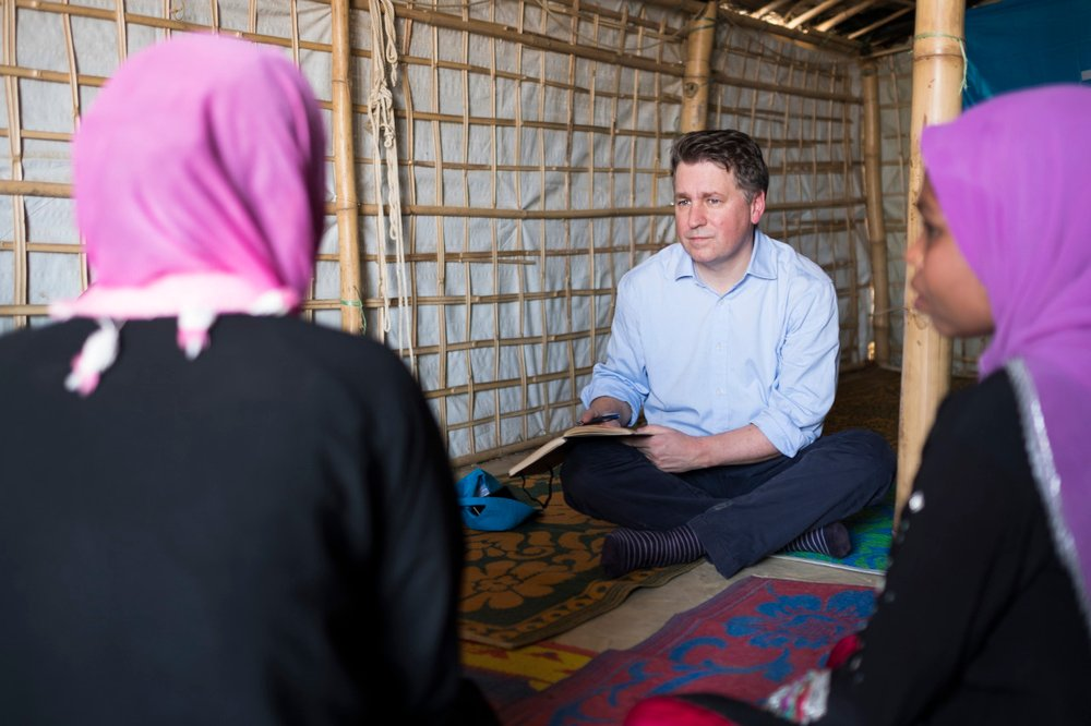 UNICEF official Justin Forsyth visiting Bangladesh