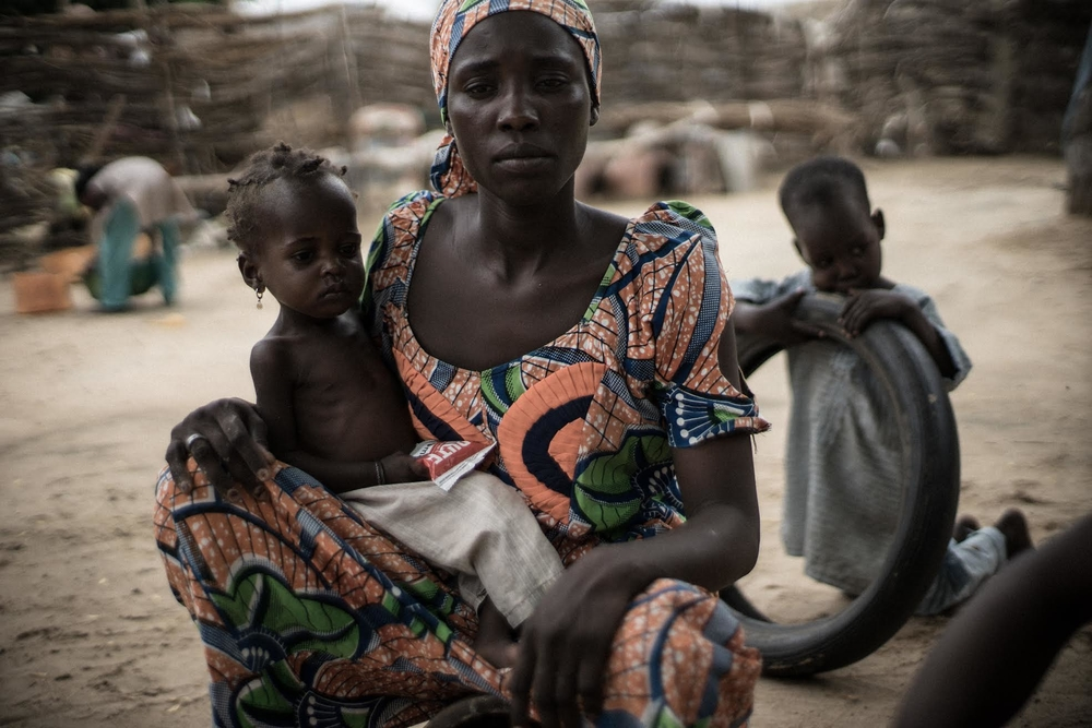 20-month-old Ummi Mustafa and her mother, Maiduguri, Nigeria