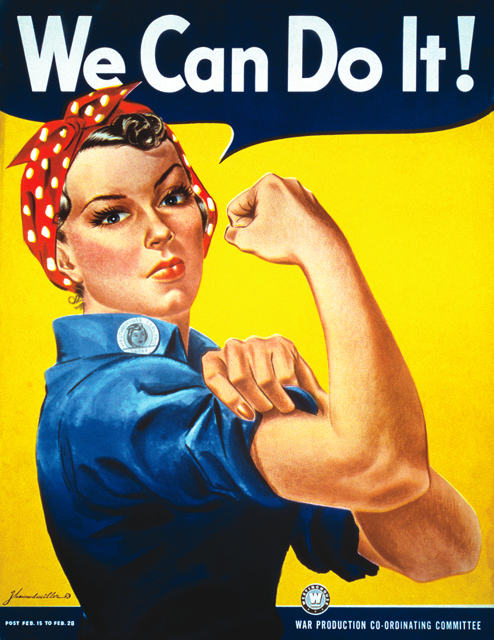 Iconic WW II poster of Rosie the Riveter