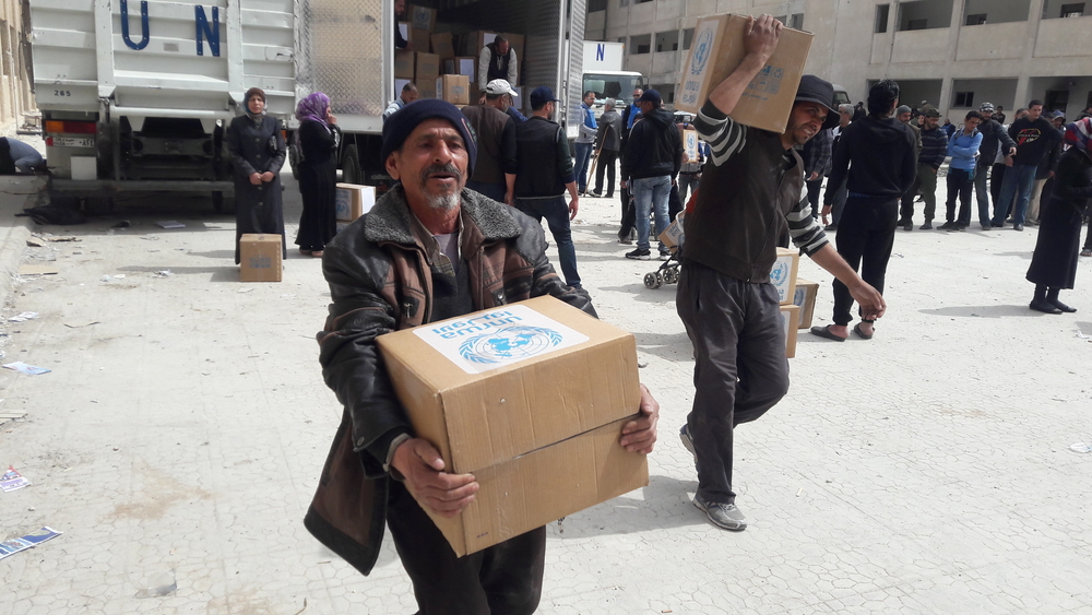 Man carries box