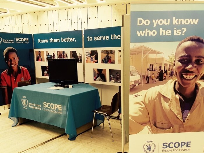 WFP stall at conference