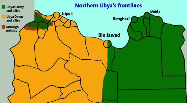 Frontières au Nord de la Lybie