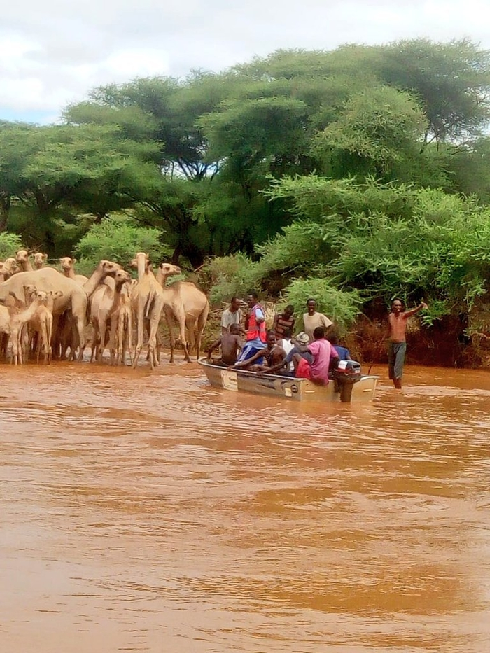Nine people marooned by floodwaters on Saturday 19 October 2019 after Tana river burst its banks.