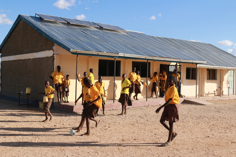 Break time at a school in Kenya's northeastern Turkana province