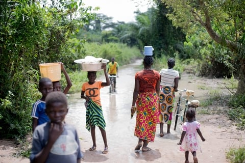 Refugees CAR/DRC border