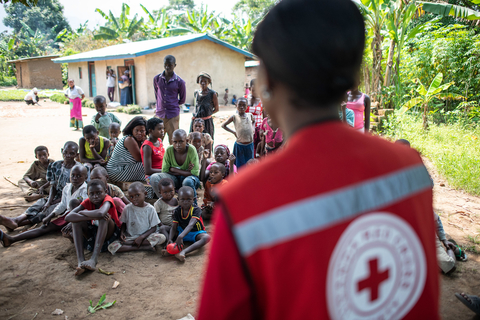 A local responder educates about Ebola in Congo
