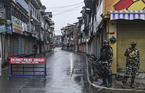 Photo of lockdown in Kashmir