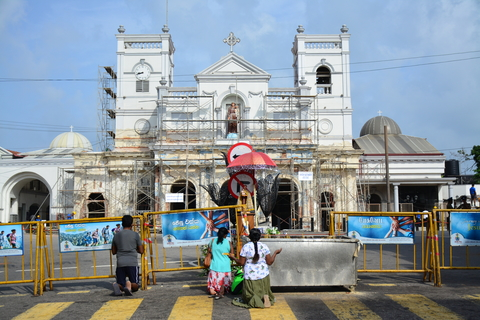 Photo of shrine in Colombo, Sri Lanka after suicide blasts.