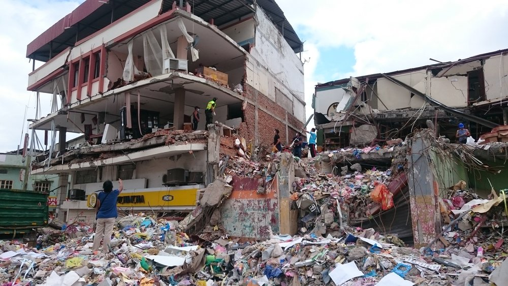 Aftermath of an earthquake: Ecuador 2016