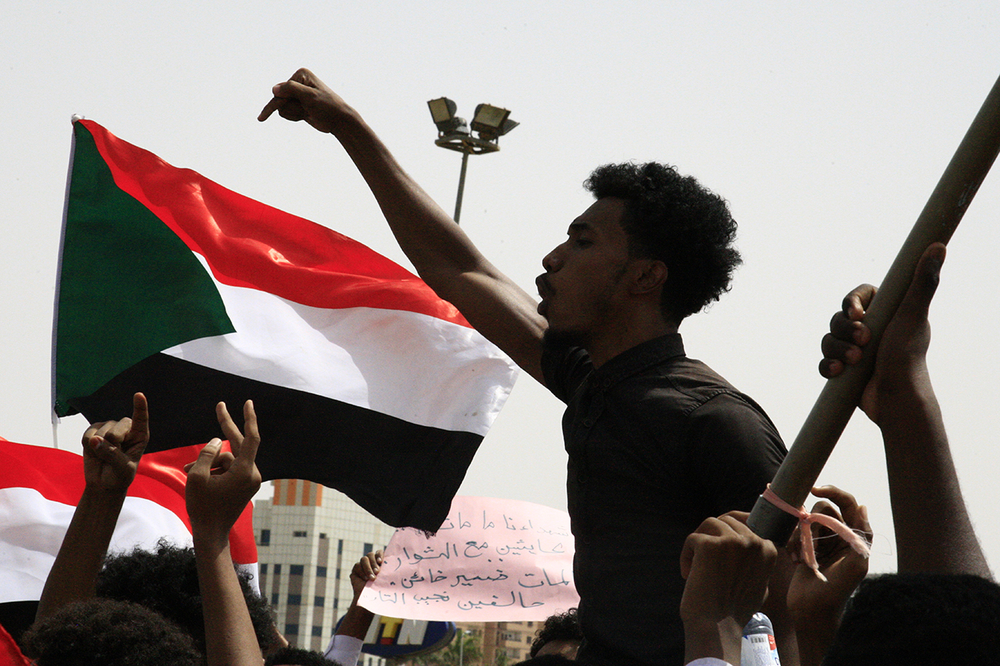Sudanese protester in Khartoum.
