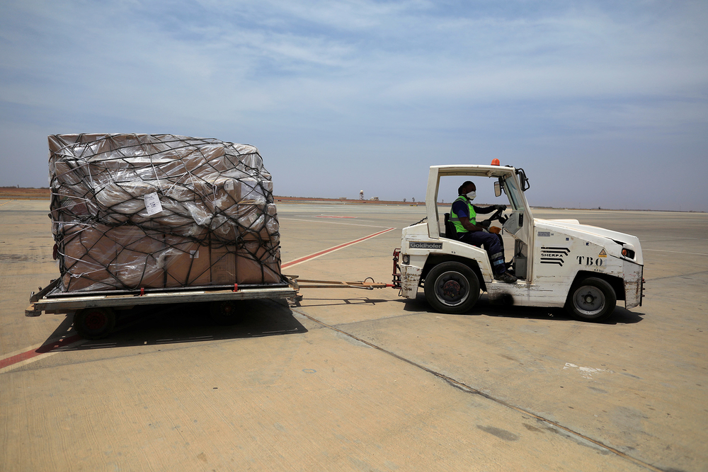 Medical supplies arrive in Senegal