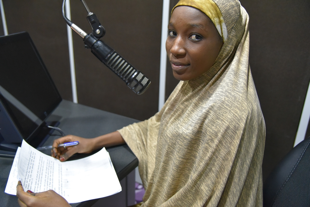 Radio presenter Fatima Mu'azzam