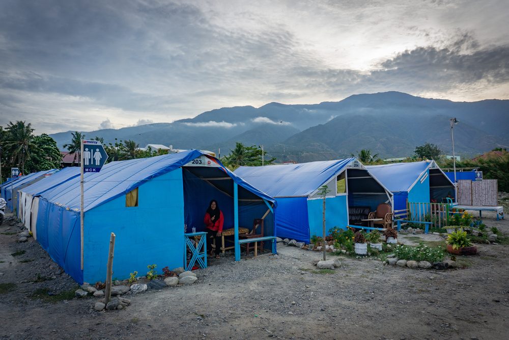 Relief tents in Palu