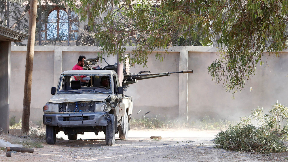 Fighting between Libya's internationally recognised government and eastern forces in Ain Zara, Tripoli.