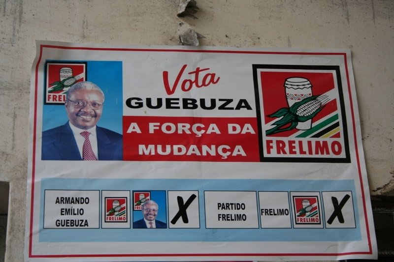 Vota Guebuza - election poster