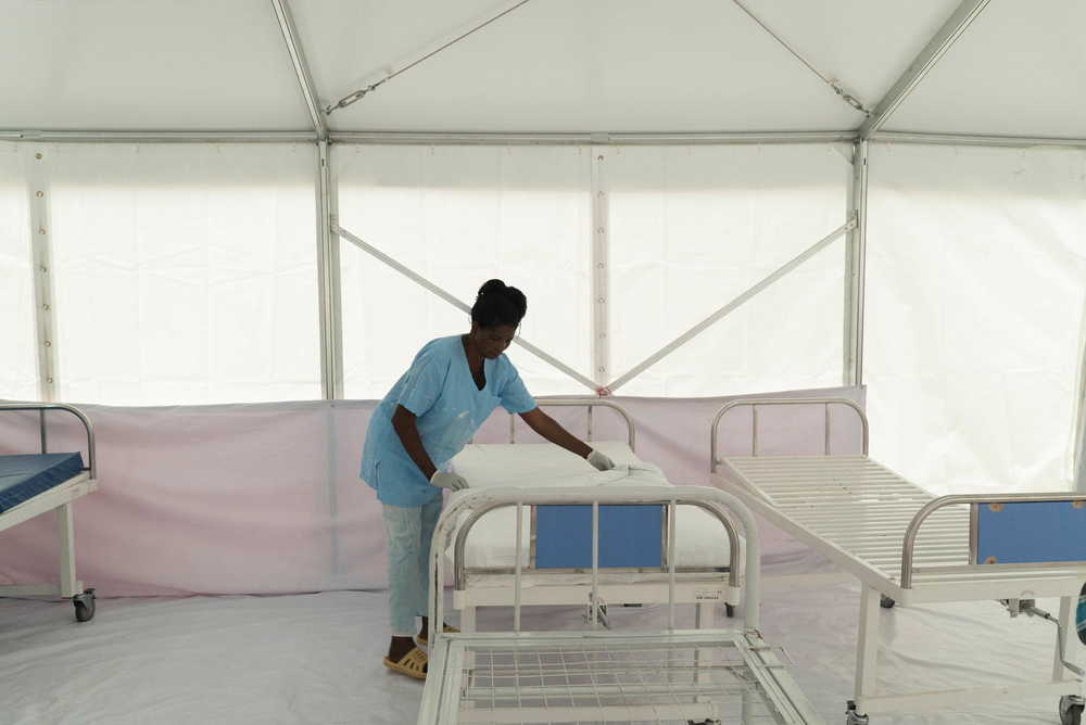 Photo of an Ebola treatment center in Uganda