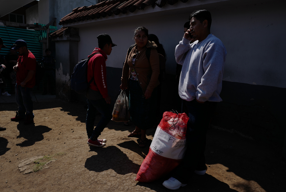 A group of Guatemalans deported back home from the United States on 22 January, 2020 at an air force base near Guatemala City.