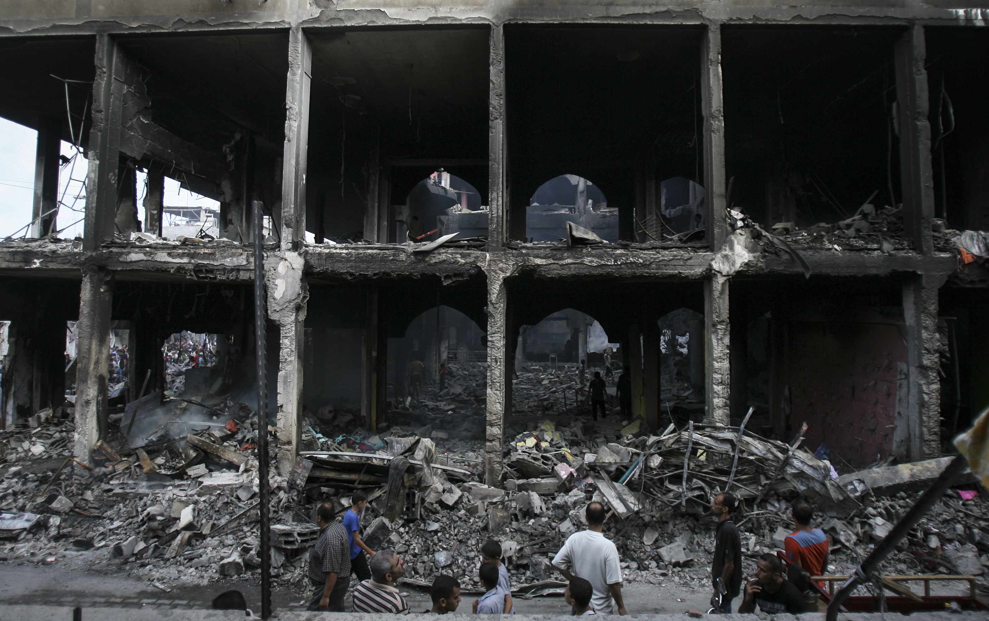 A mall destroyed in Gaza